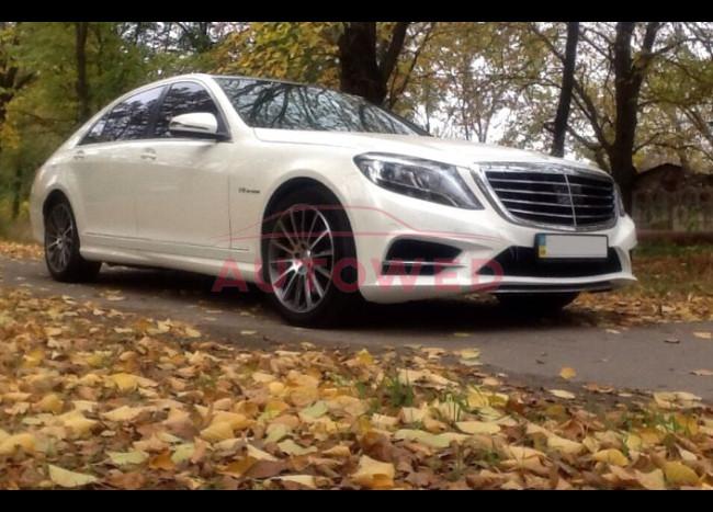 Mercedes w222 S63L (белый)-3
