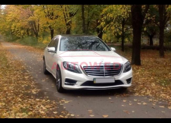 Mercedes w222 S63L (белый)-2