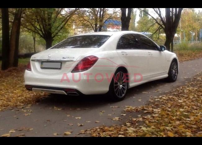 Mercedes w222 S63L (белый)-4