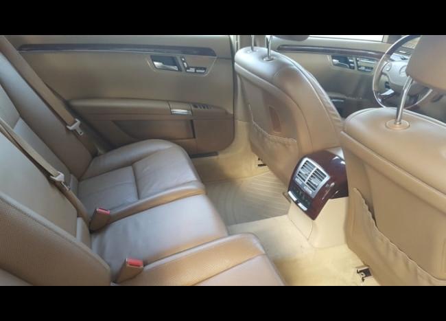 Mercedes w221 S 550L (белый)-4